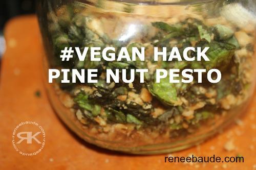 vegan hack pine nut pesto