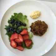 full plate lentil burger